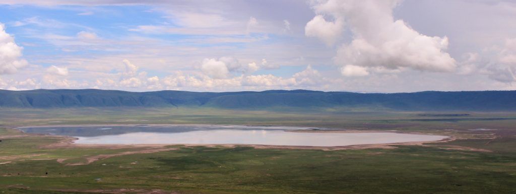 Ngorongoro Crater - view from crater rim at sunset