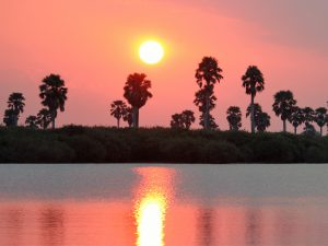 Tanzania's destinations - Selous Game Reserve - River view at sunset